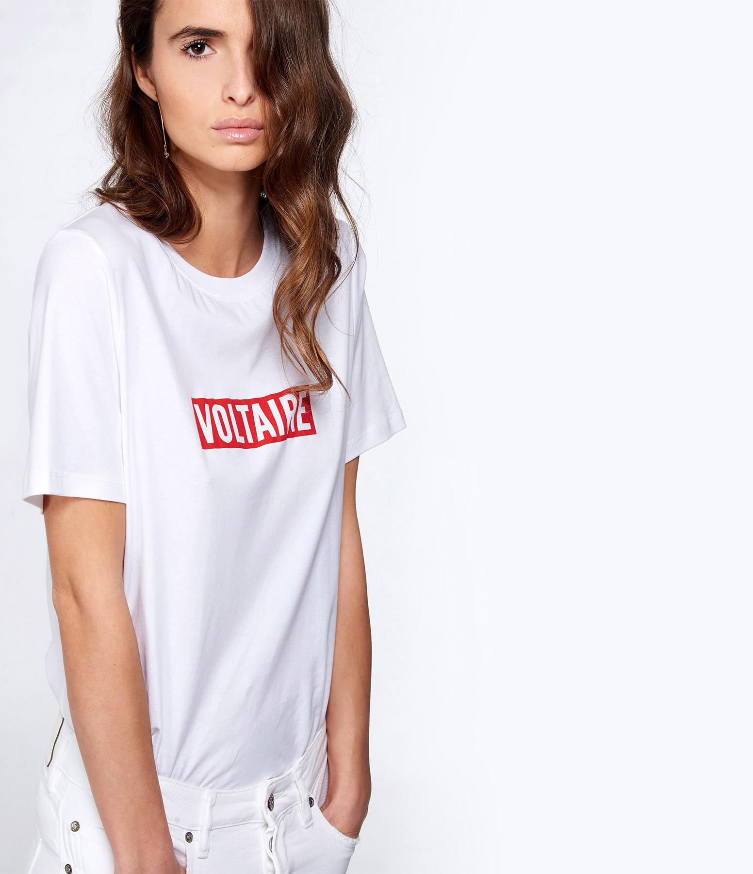 ZADIG & VOLTAIRE - Tee-shirt Bella Voltaire Coton Blanc