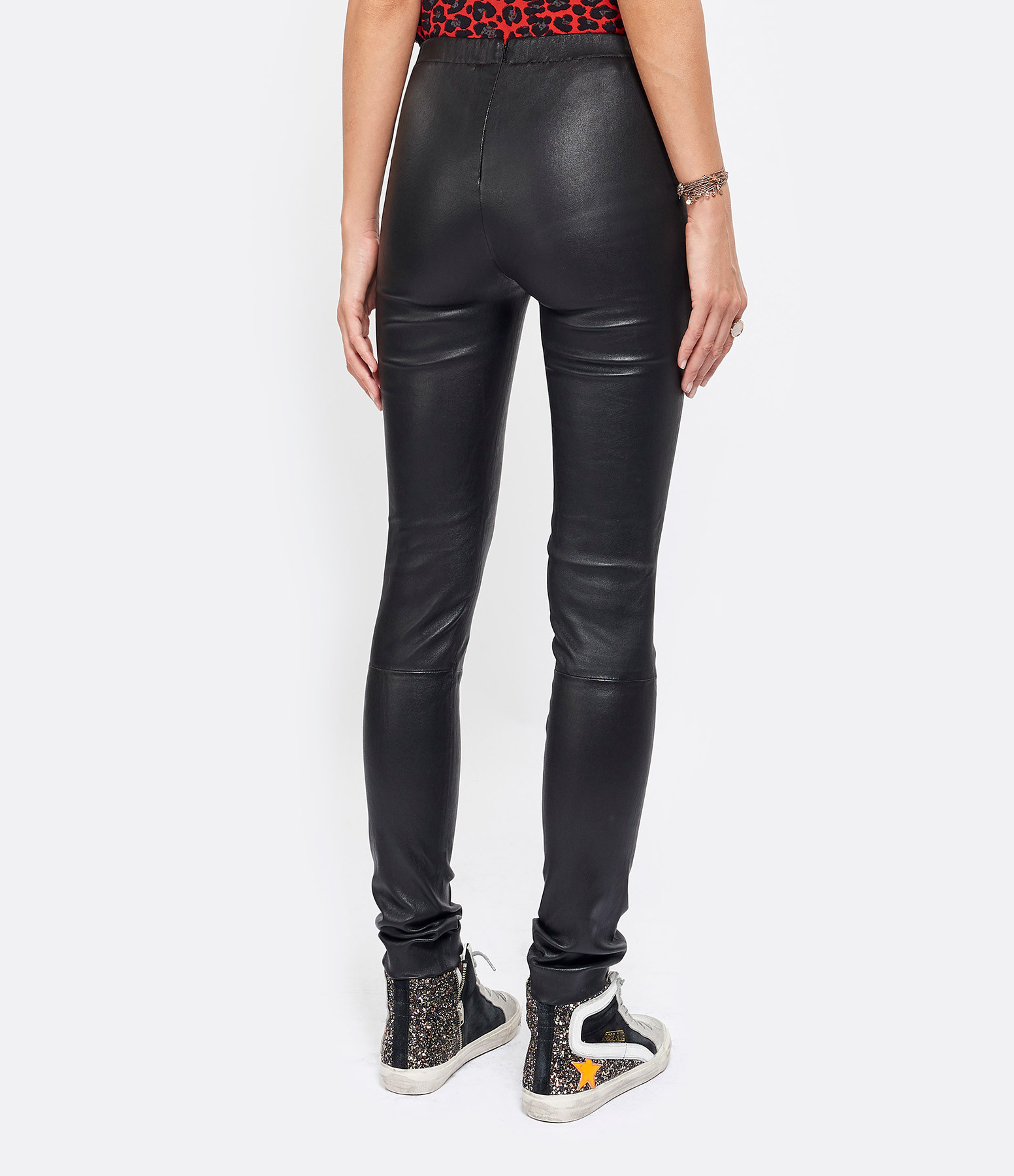 ZADIG & VOLTAIRE - Pantalon Pharel Cuir Noir
