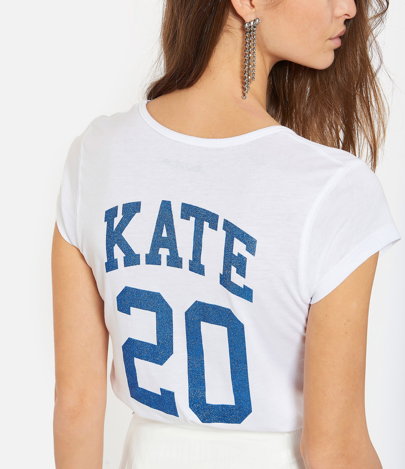 ZADIG & VOLTAIRE - Tee-shirt Karta Coton Blanc, Collection Kate Moss