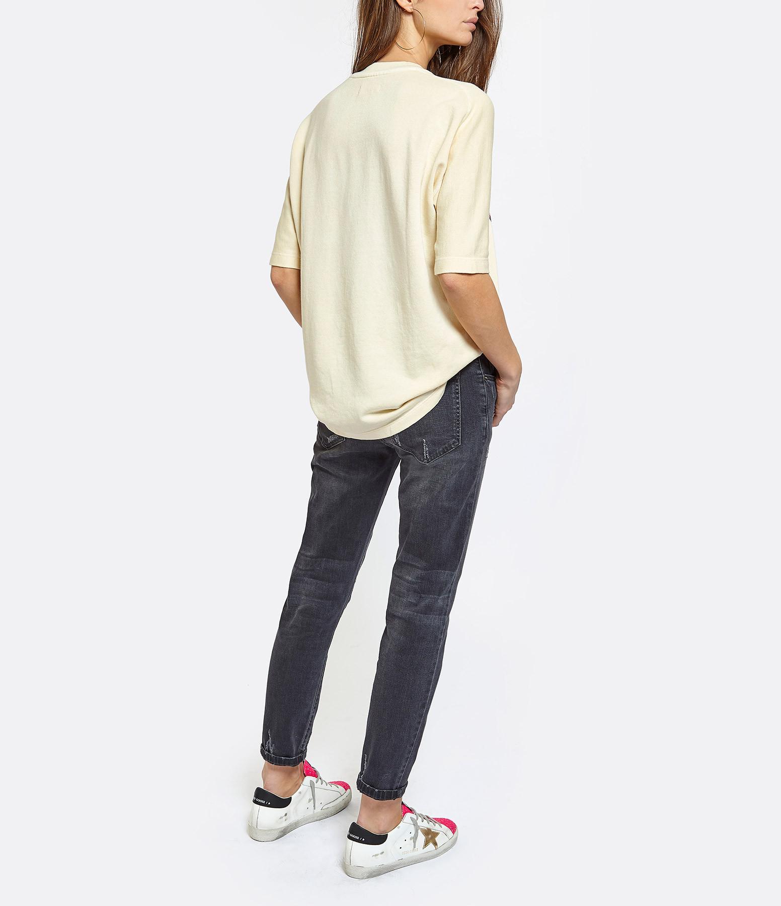 ZADIG & VOLTAIRE - Tee-shirt Portland Coton Vanille