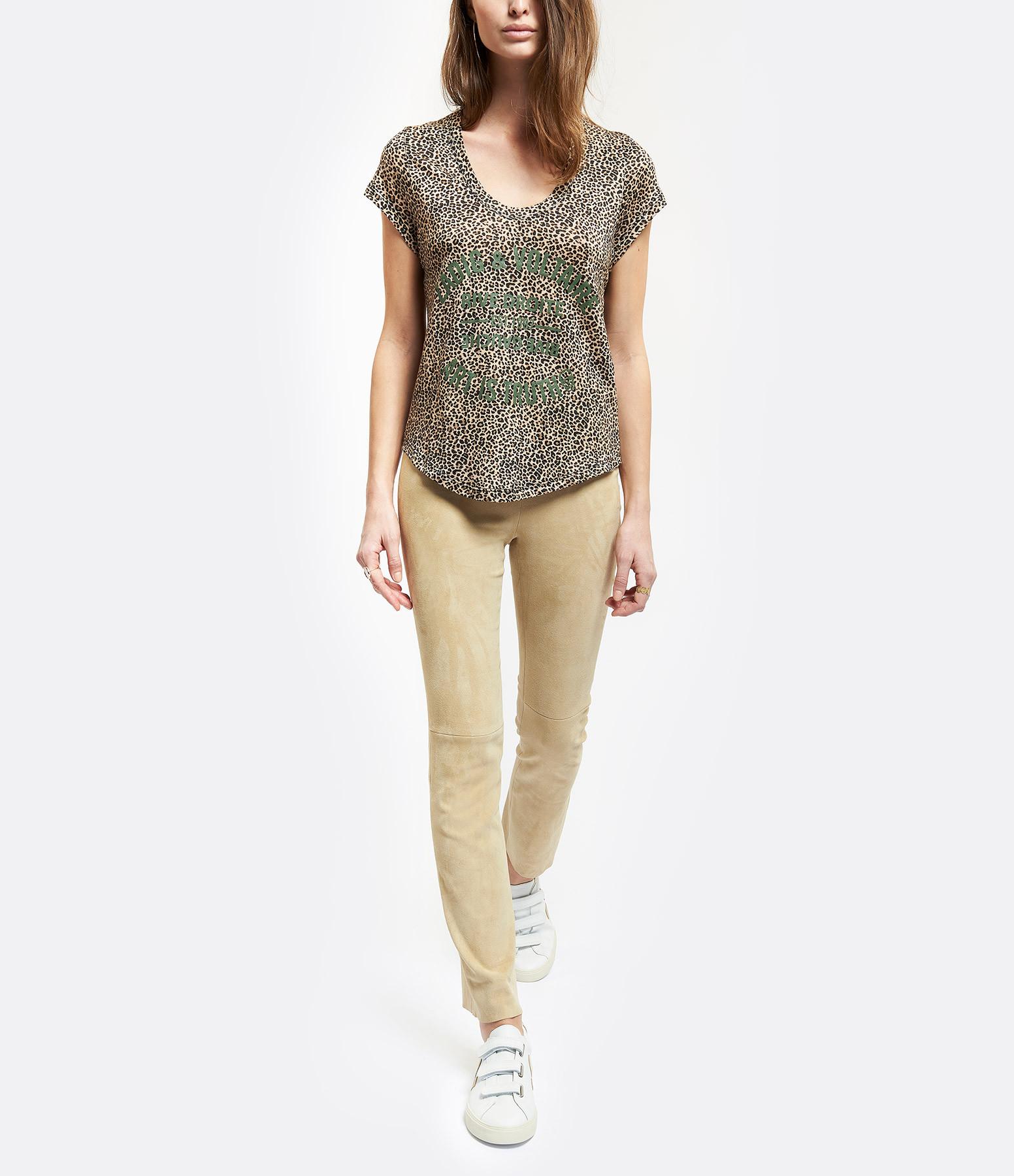 ZADIG & VOLTAIRE - Tee-shirt Aretha Lin imprimé Panthère Naturel