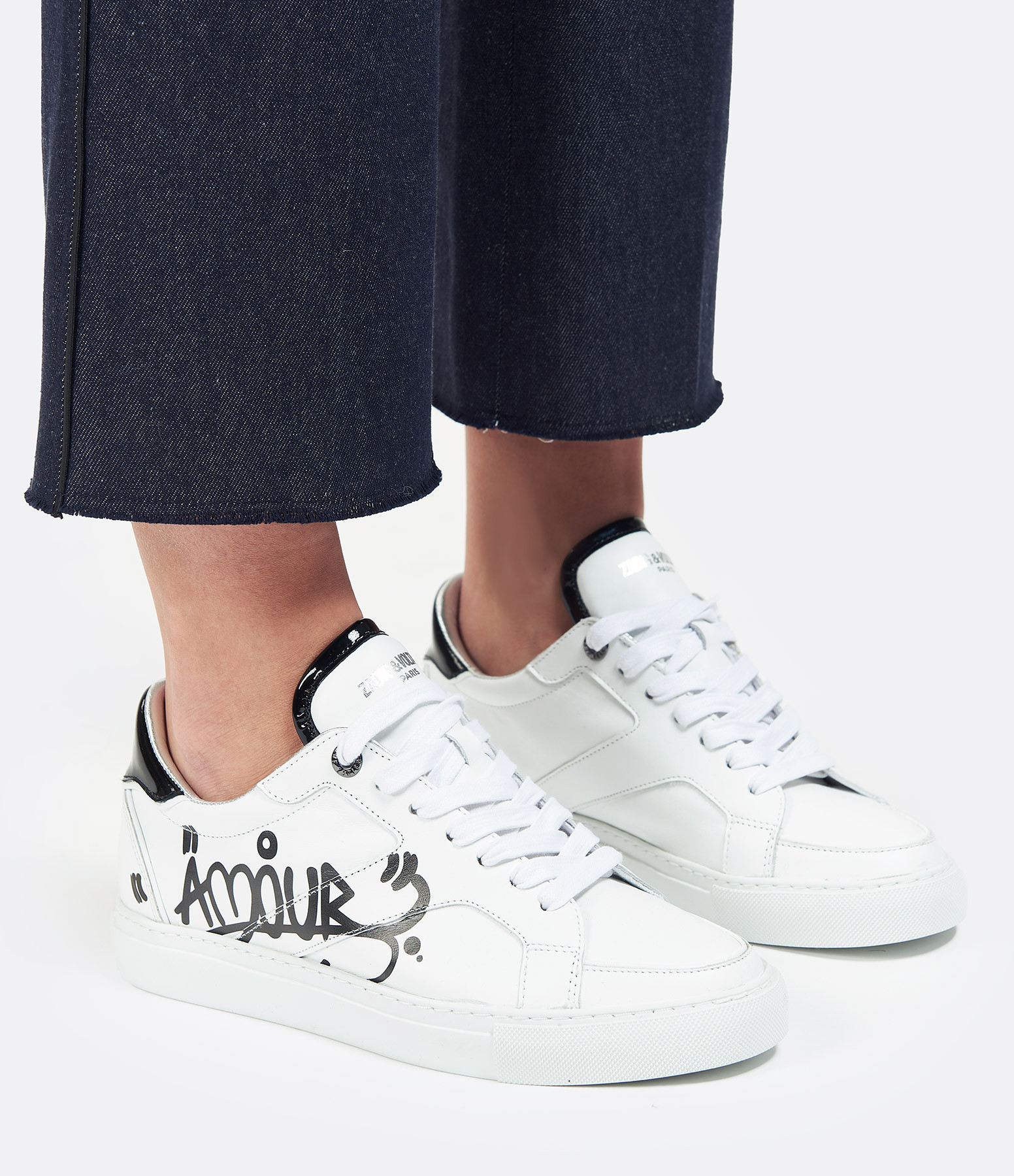 ZADIG & VOLTAIRE - Baskets ZV1747 Amour Cuir Blanc