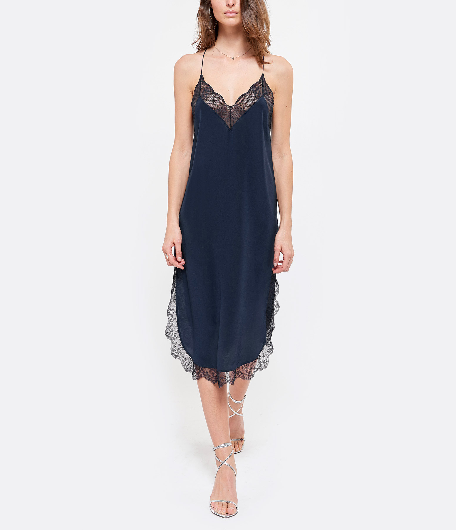 ZADIG & VOLTAIRE - Robe Closer Soie Myrtille