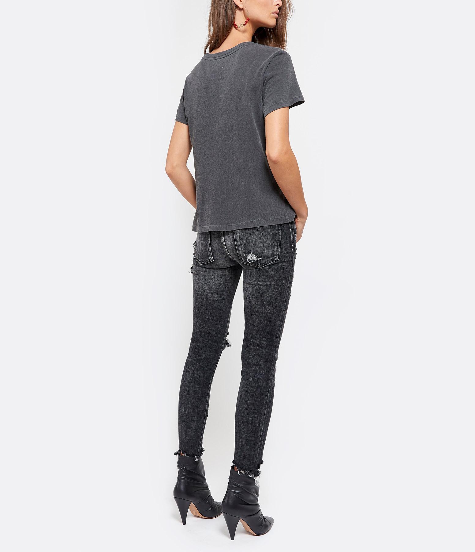 ZADIG & VOLTAIRE - Tee-shirt Alys Rock Roll Coton Noir
