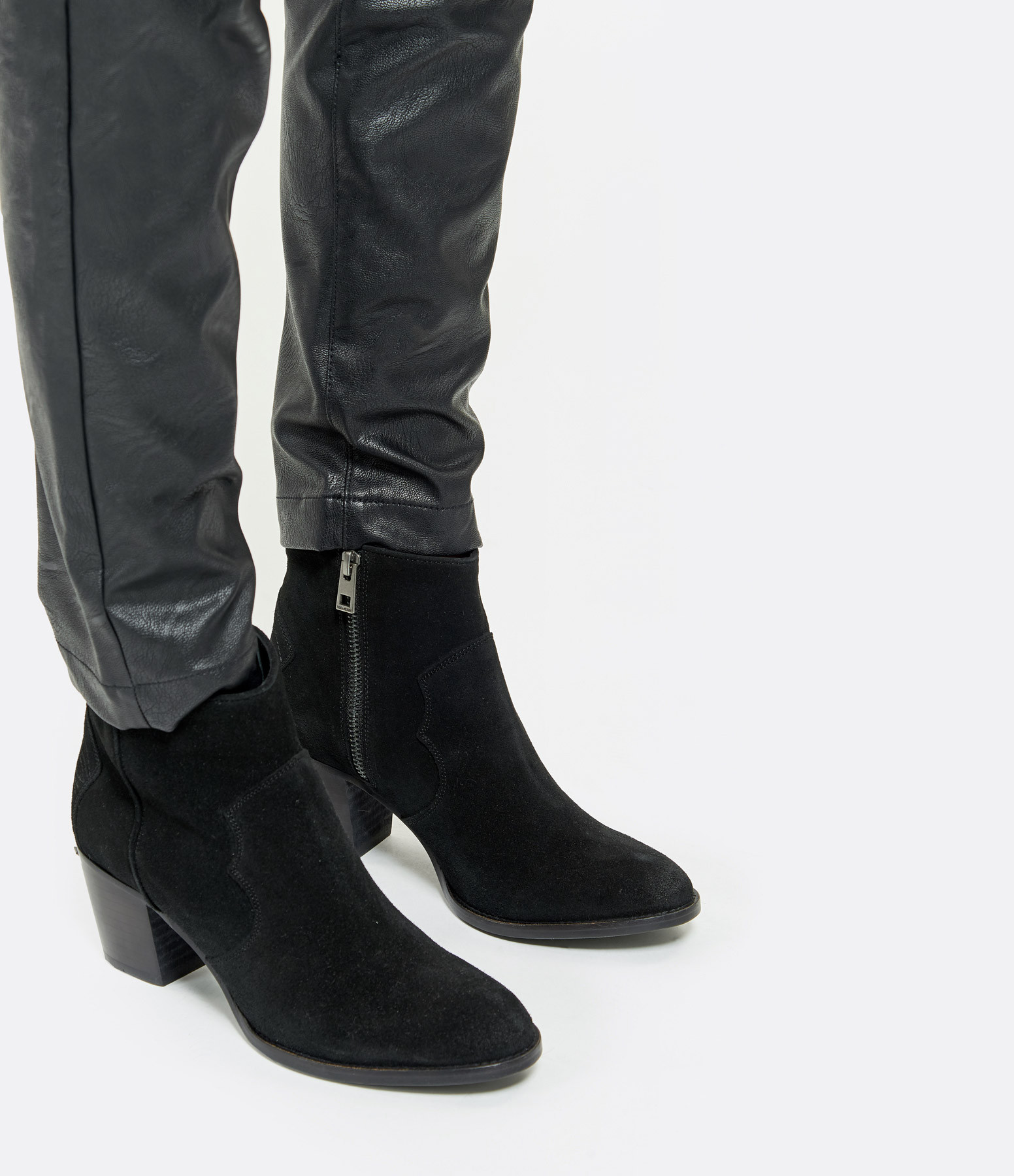 ZADIG & VOLTAIRE - Bottines Molly Cuir Noir