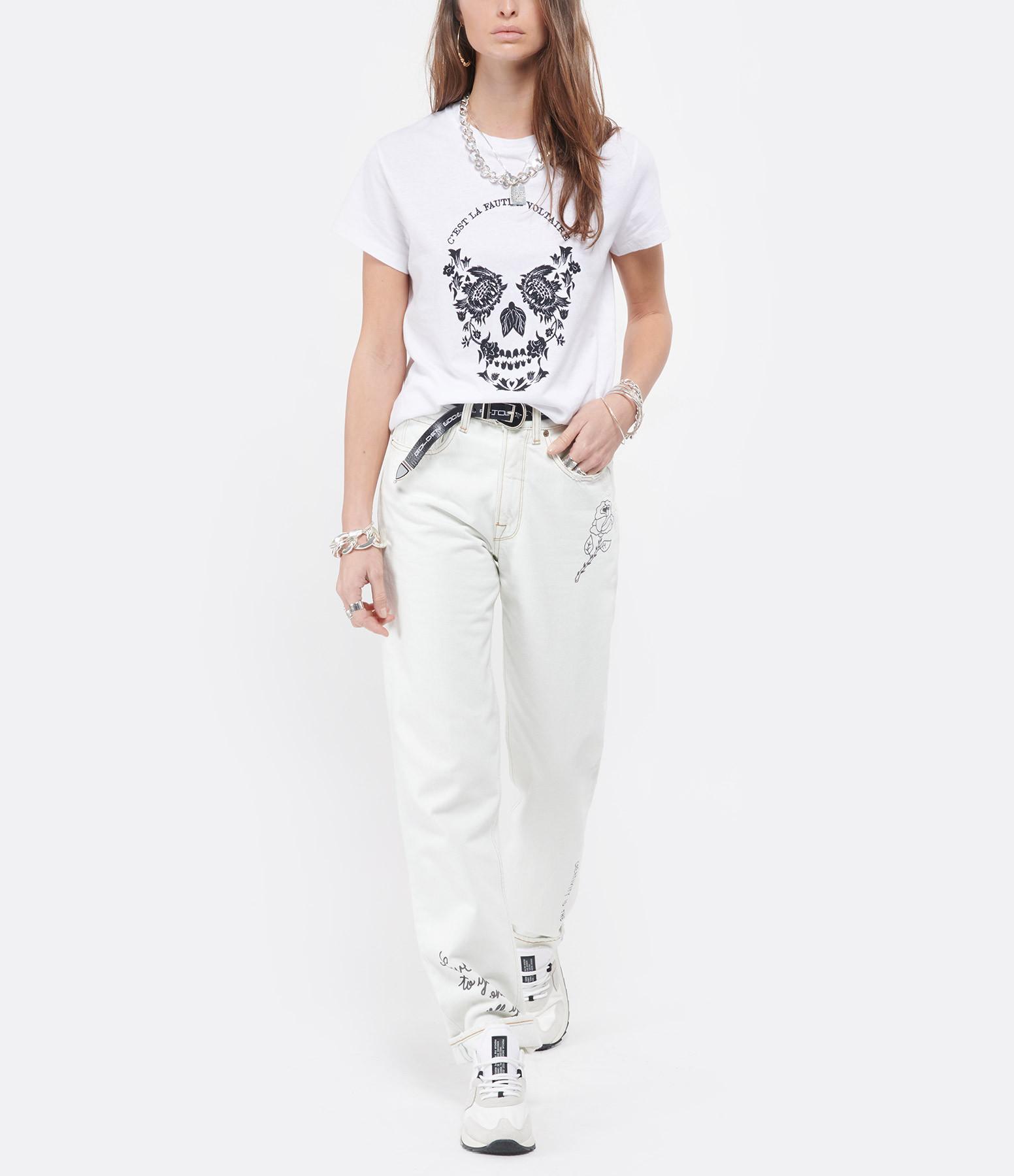 ZADIG & VOLTAIRE - Tee-shirt Zoé Skull VLTR Coton Blanc