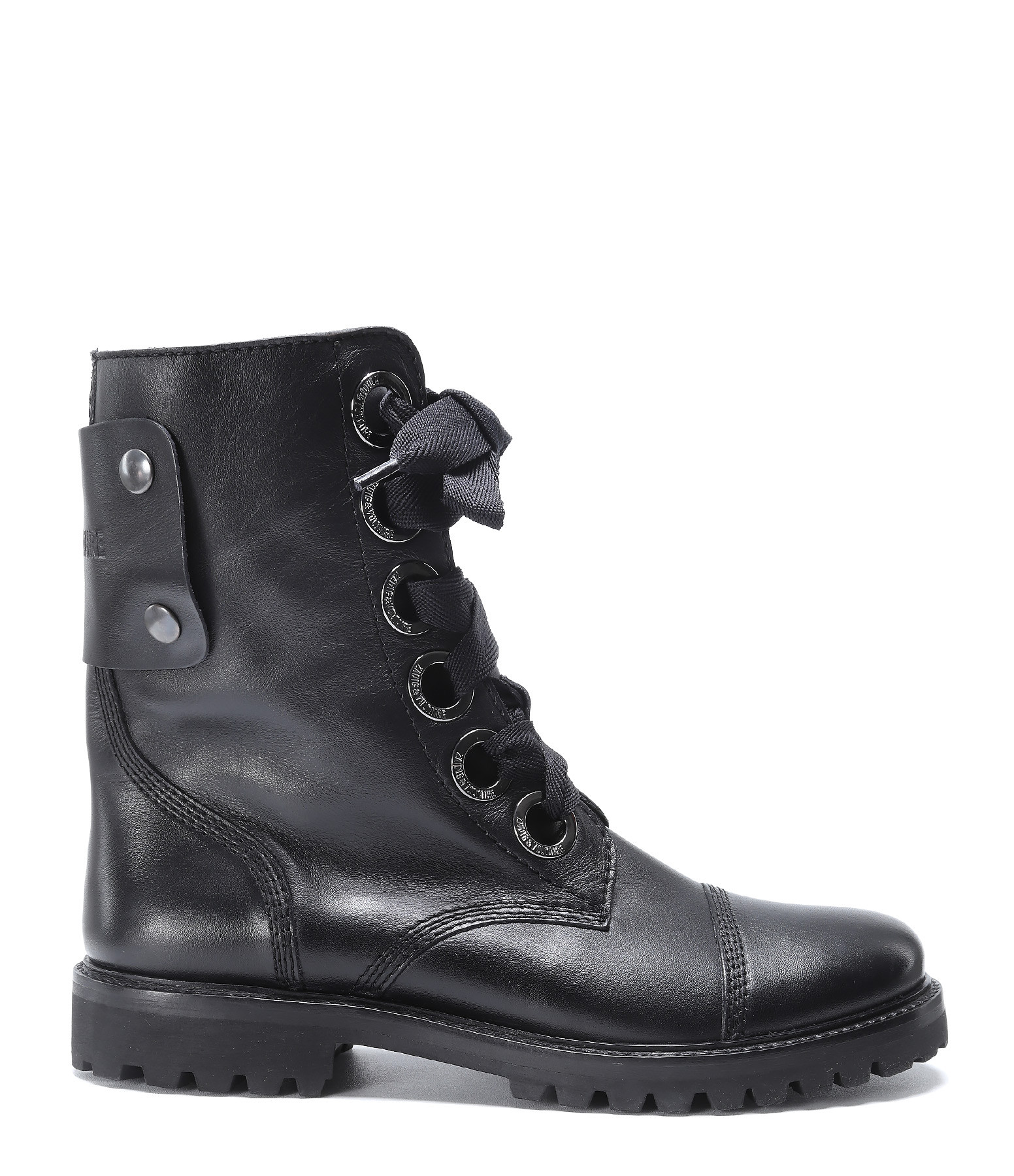 ZADIG & VOLTAIRE - Bottines Joe Cuir Noir