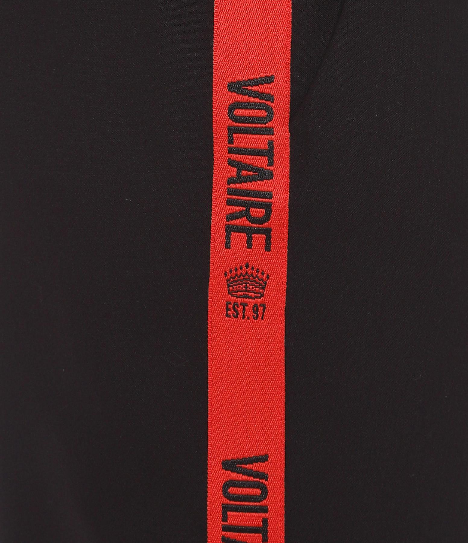 ZADIG & VOLTAIRE - Pantalon Pomelo Bandes Noir Rouge
