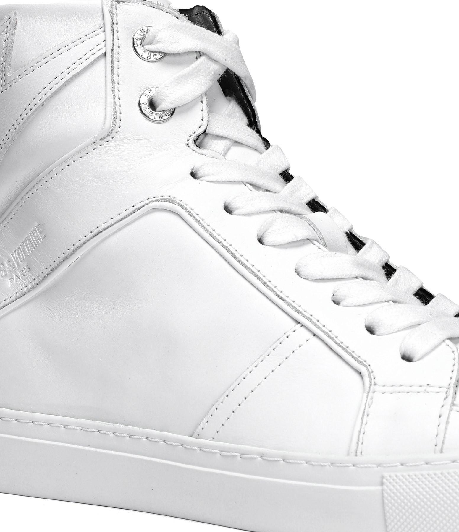 ZADIG & VOLTAIRE - Baskets ZV1747 High Cuir Blanc