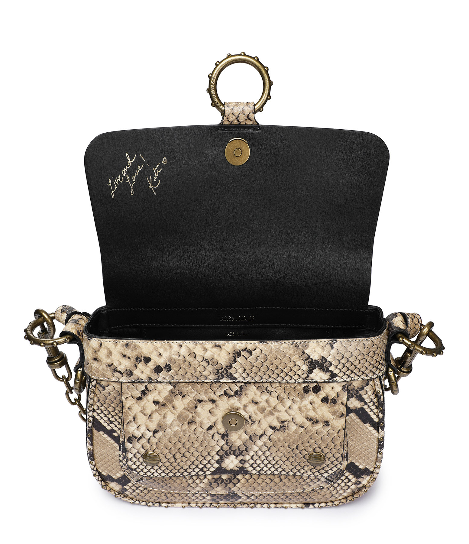ZADIG & VOLTAIRE - Sac Wild Cuir Python Desert, Collection Kate Moss
