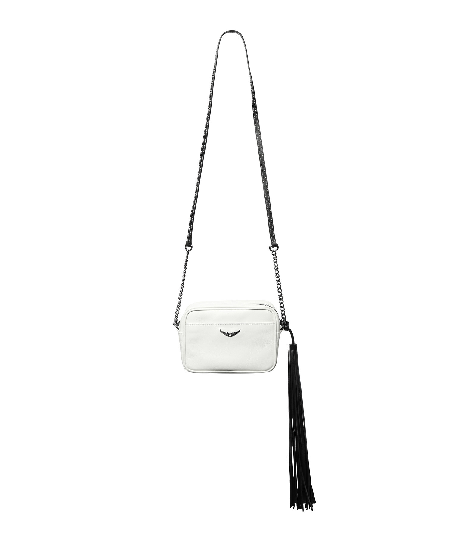 ZADIG & VOLTAIRE - Sac XS Boxy Initial Cuir Blanc