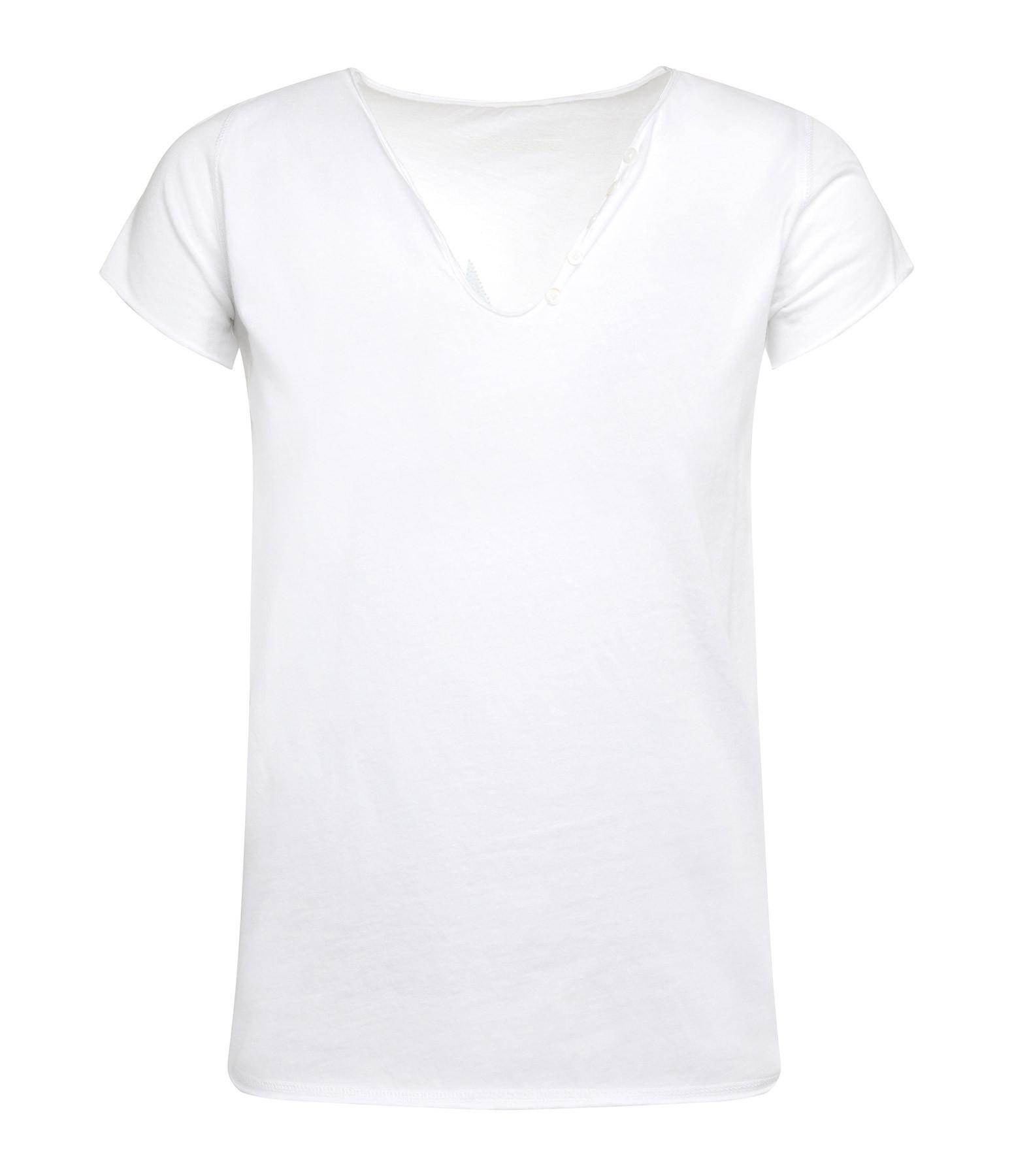 ZADIG & VOLTAIRE - Tee-shirt Tunisien Lov Coton Blanc