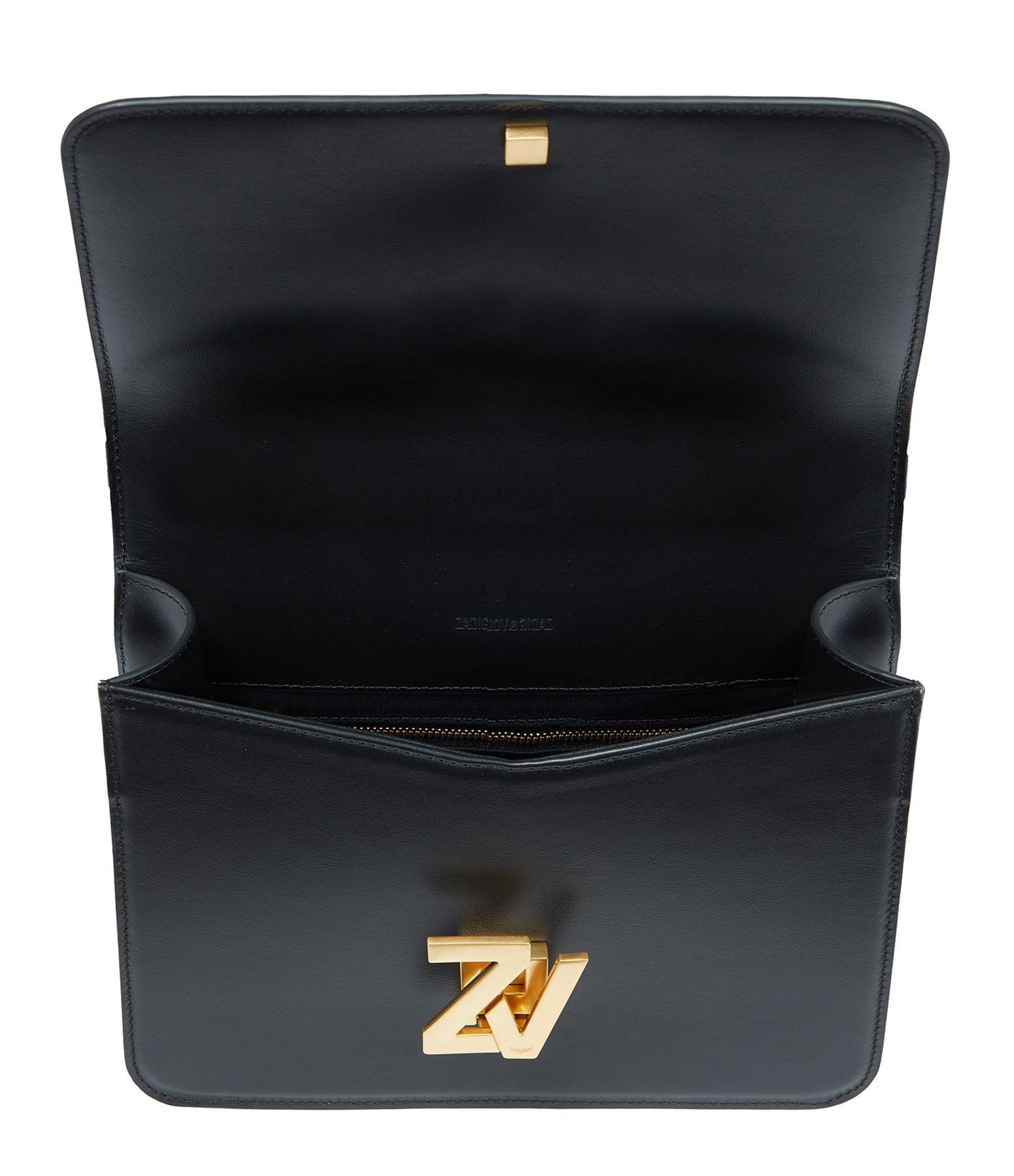 ZADIG & VOLTAIRE - Sac ZV Initiale CIT Cuir Noir