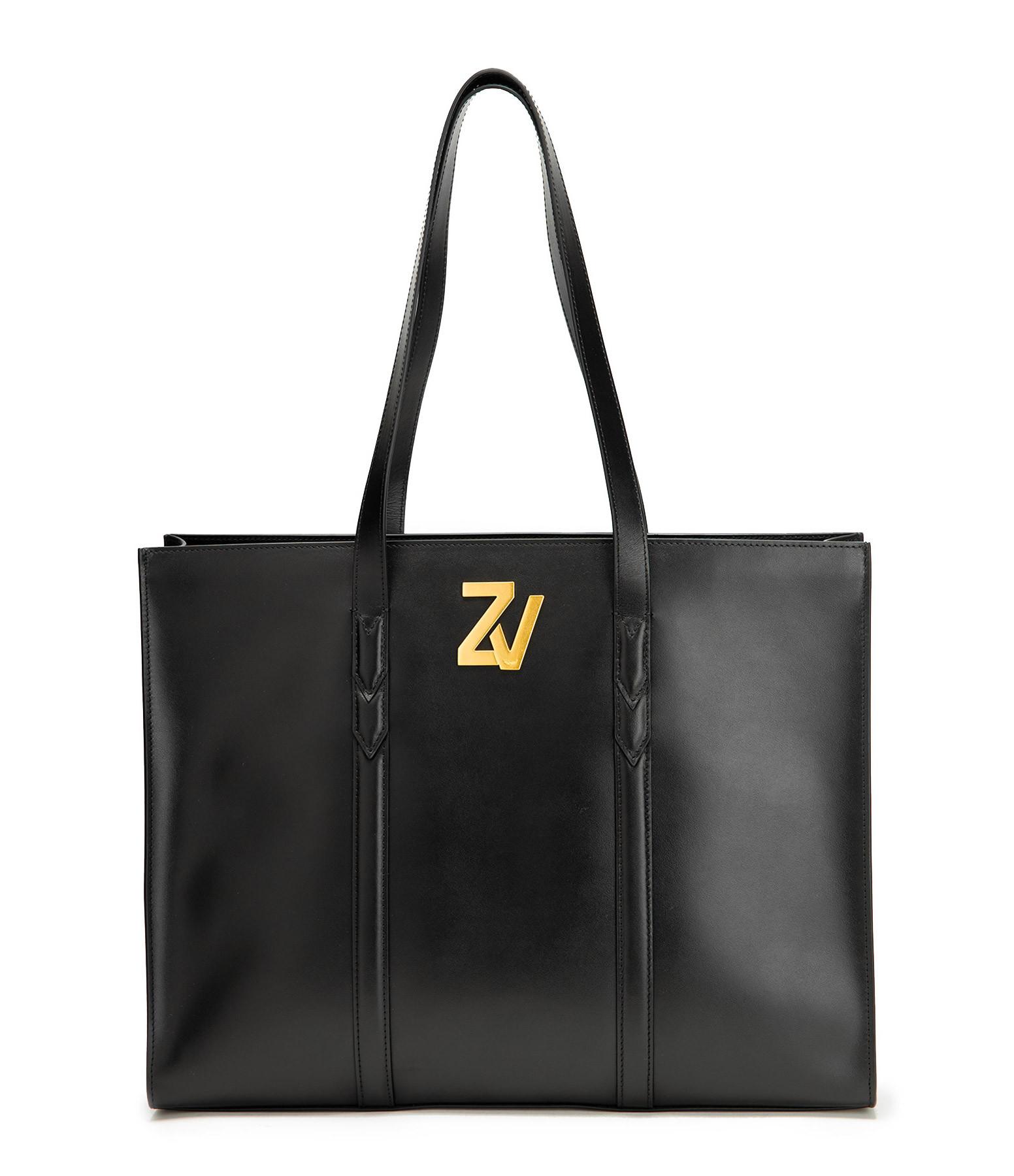 ZADIG & VOLTAIRE - Sac ZV Initiale TOT Cuir Noir