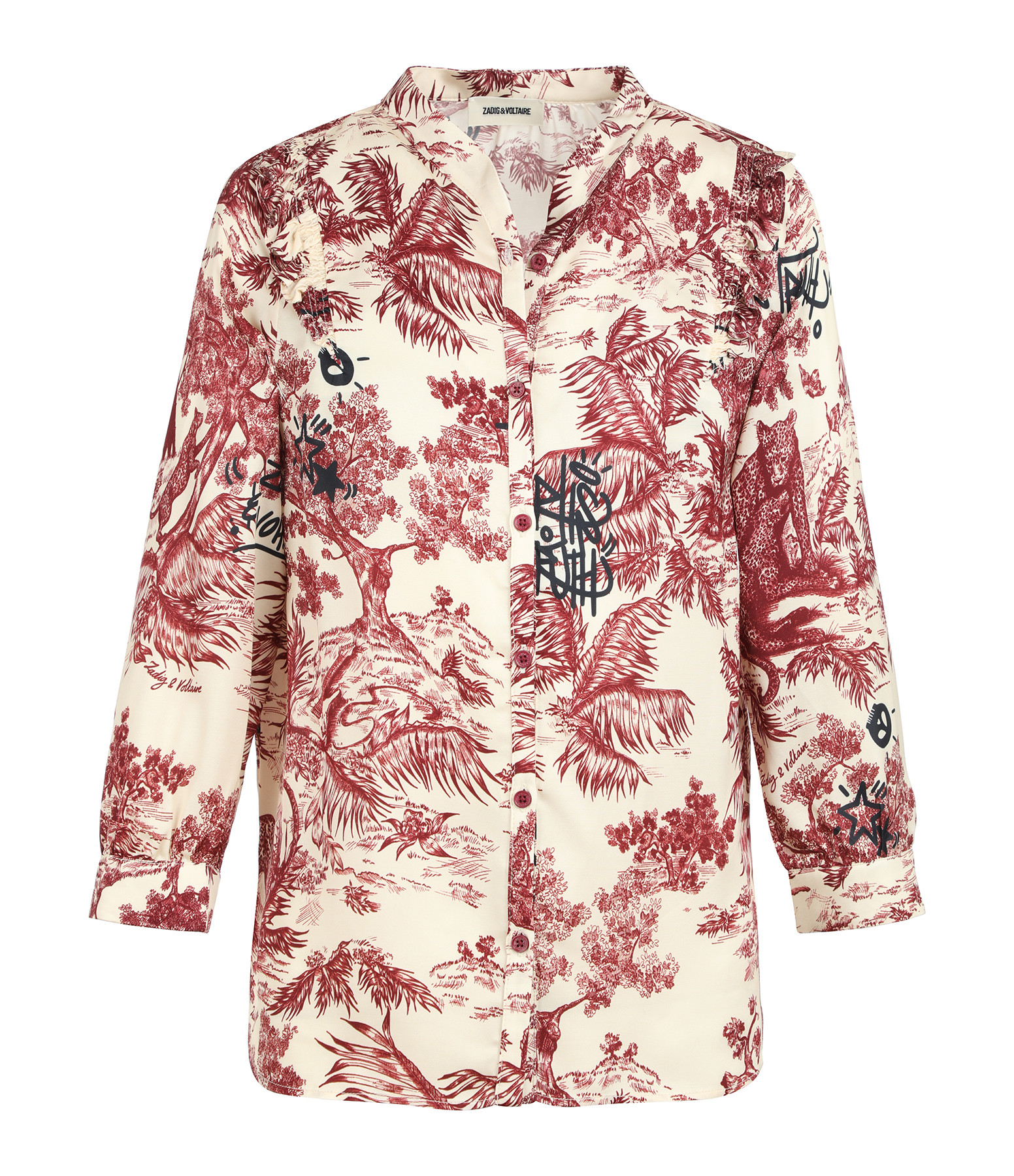 ZADIG & VOLTAIRE - Blouse Tygg Jouy Satin Toile