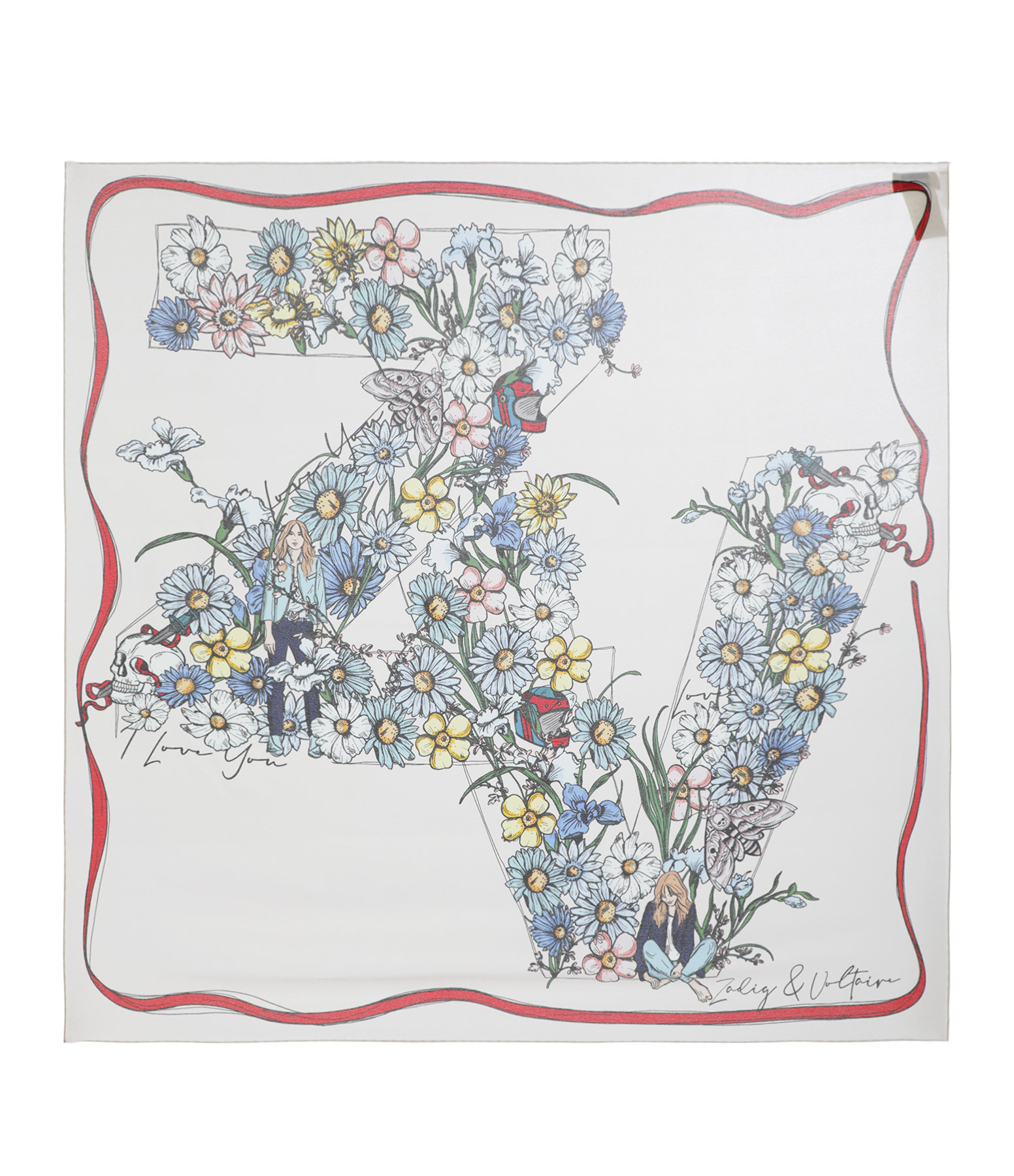 ZADIG & VOLTAIRE - Foulard Lotty ZV Flower Soie Flash