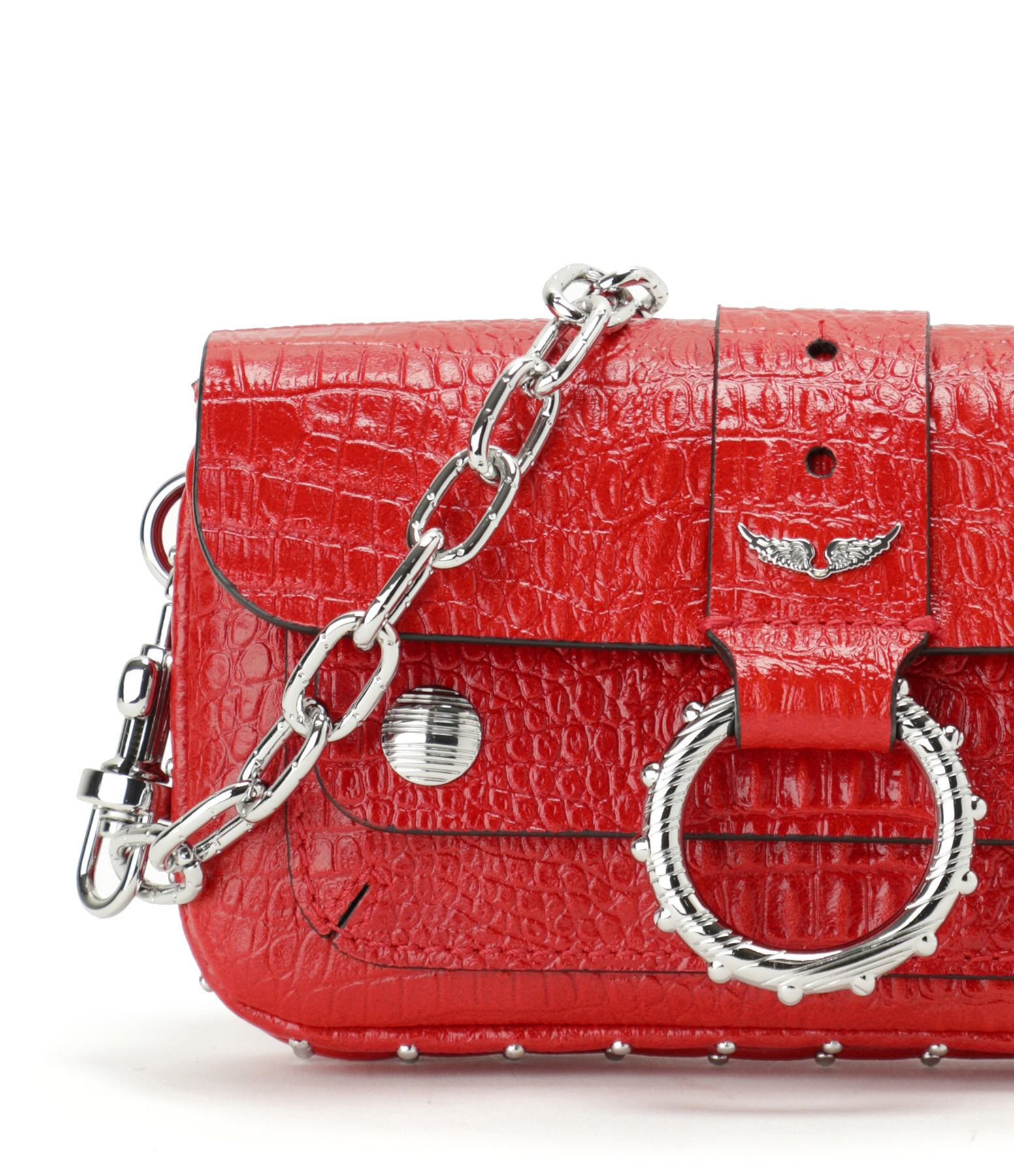 ZADIG & VOLTAIRE - Sac Cuir Rouge, Collection Kate Moss
