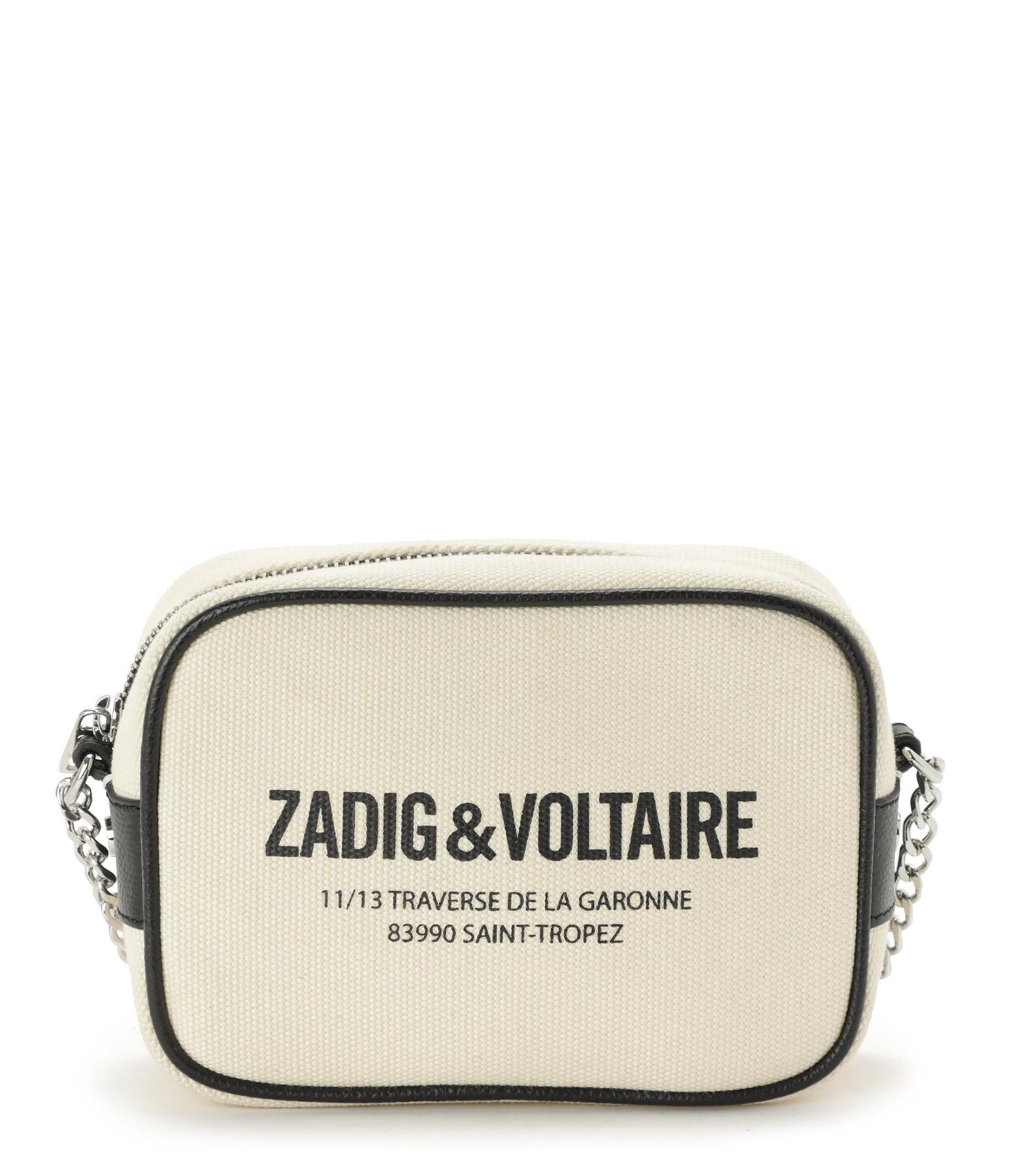 ZADIG & VOLTAIRE - Pochette Boxy Canvas XS Coton Flash