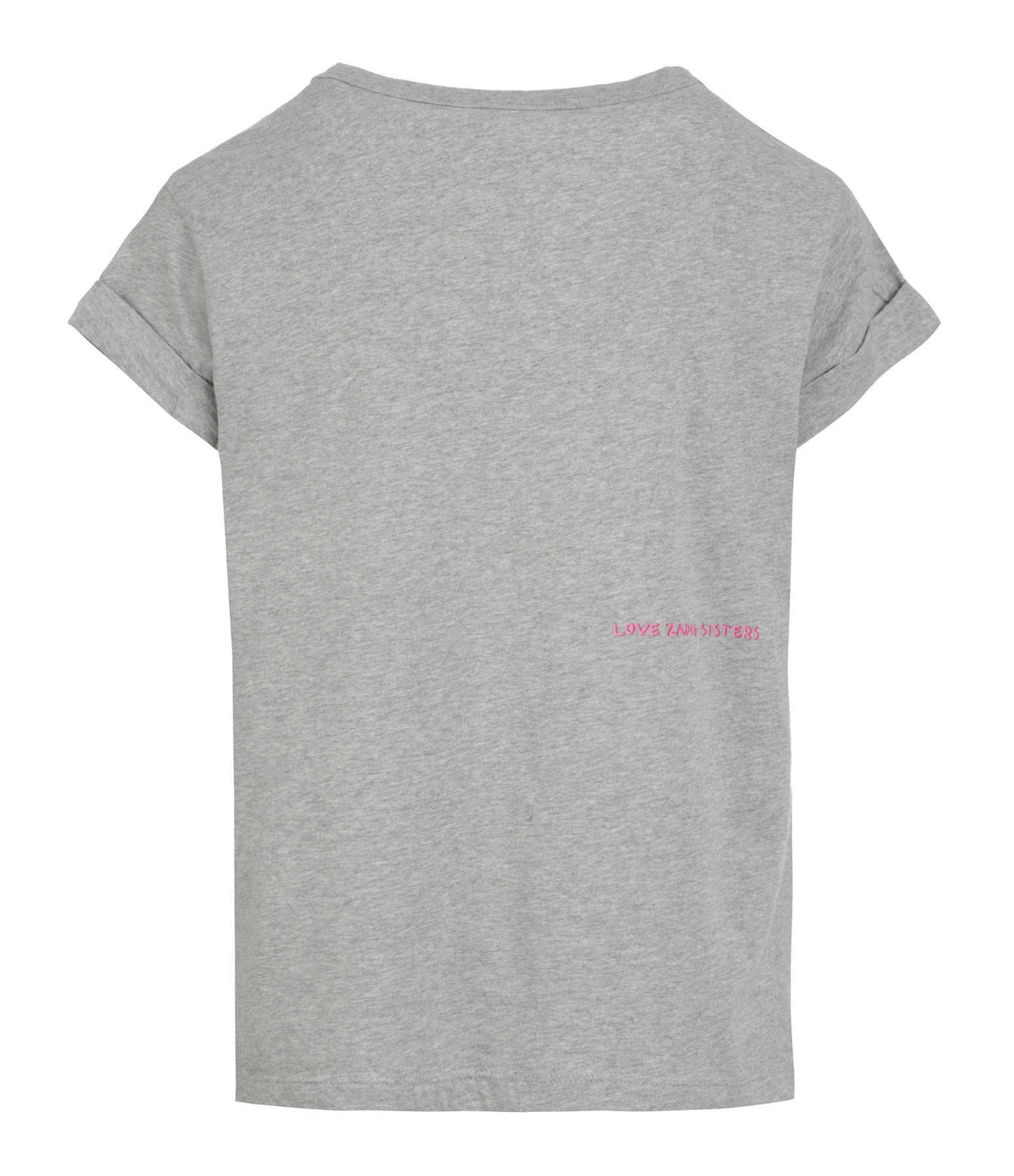 ZADIG & VOLTAIRE - Tee-shirt Anya Boss Coton Gris Chiné