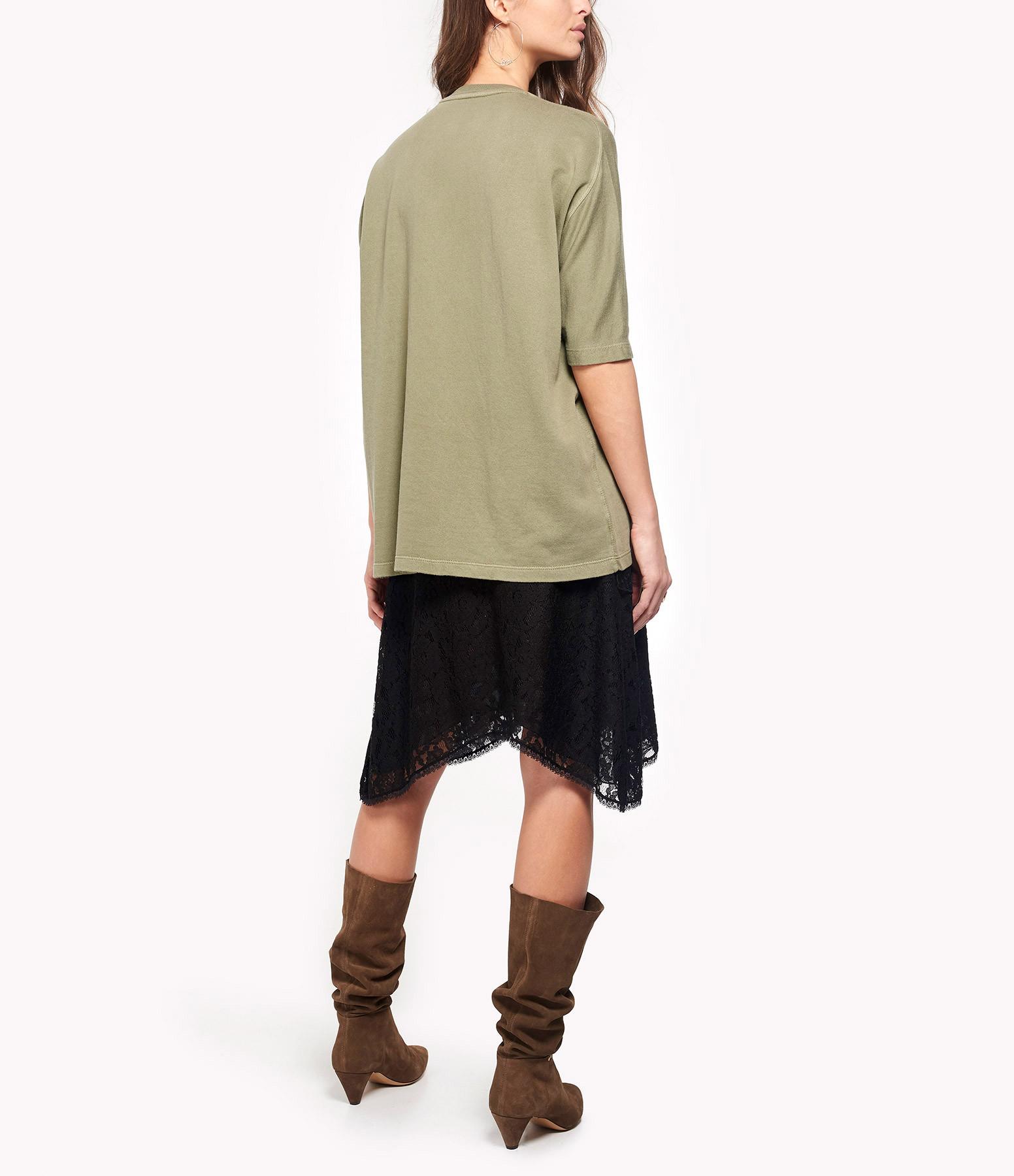 ZADIG & VOLTAIRE - Sweatshirt Portland Amour Coton Kaki