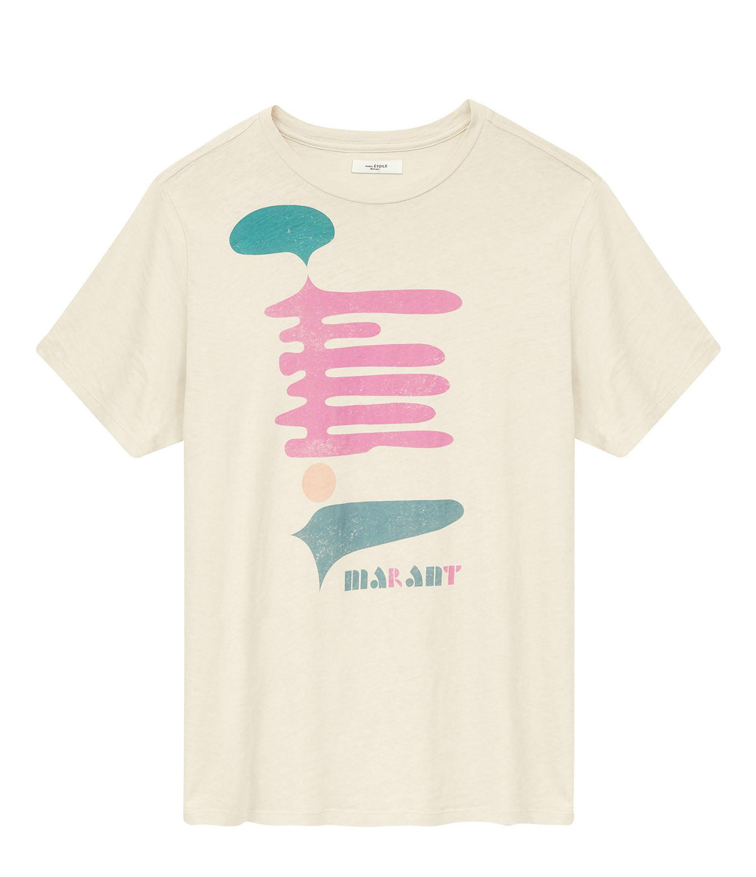 ISABEL MARANT ÉTOILE - Tee-shirt Zewel Coton Imprimé Écru