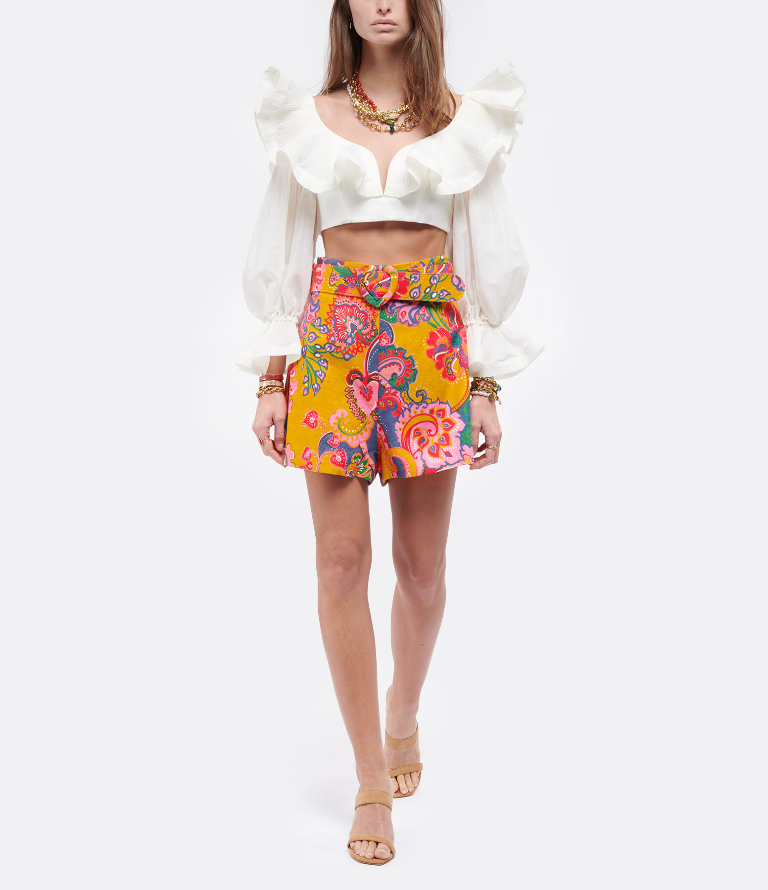 ZIMMERMANN - Crop Top The Lovestruck Naturel