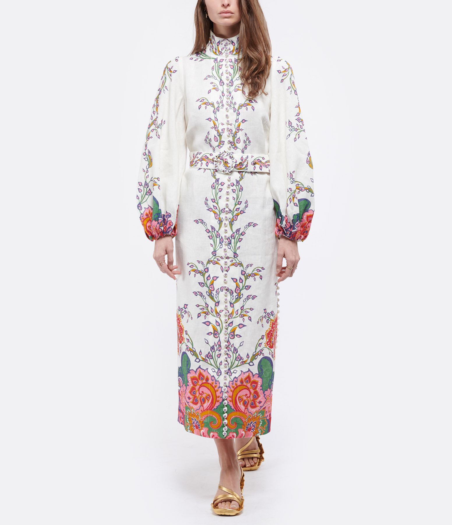 ZIMMERMANN - Robe The Lovestruck Lin Naturel Paisley Floral