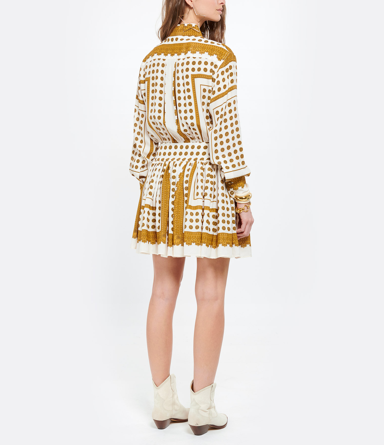 ZIMMERMANN - Robe Mini Pois Marron Imprimé