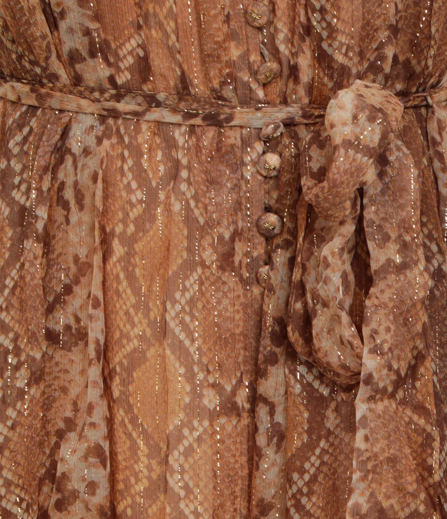 ZIMMERMANN - Robe Botanica Python Doré