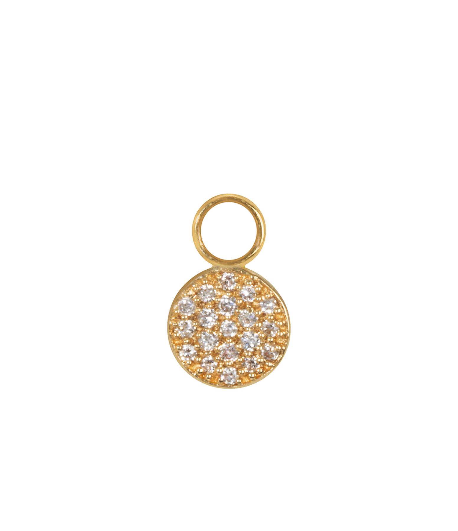 Mini Charm Pastille Or Diamants - AND PARIS
