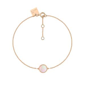 Bracelet Ever Mini Disc Or Rose Nacre Rose