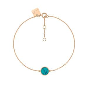Bracelet Ever Mini Disc Or Rose Turquoise