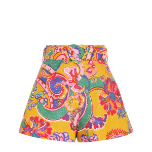 Short The Lovestruck Lin Doré Paisley Floral