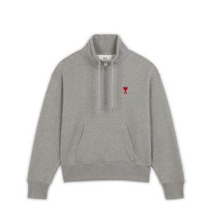 Sweatshirt Zip Ami de Coeur Coton Biologique Gris