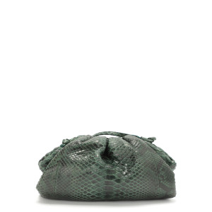 Sac Baby Cuir Souple Python Vert