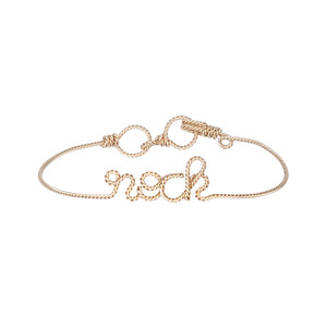 Bracelet Fils Torsadés Rock Gold Filled 14K