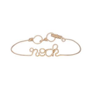 Bracelet Fils Torsadés Exclu Lulli Rock Gold Filled