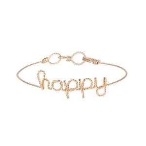 Bracelet Fils Torsadés Exclu Lulli Happy Gold Filled