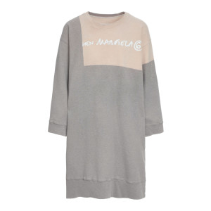 Robe Sweatshirt Oversize Coton Gris, Collection Studio