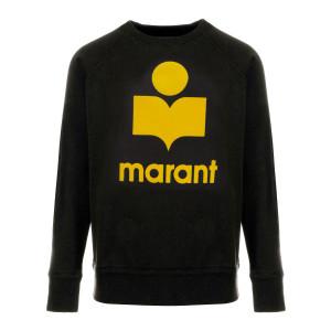 Sweatshirt Milly Coton Jaune Noir Délavé