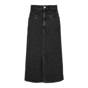 Jupe Dipoma Coton Noir Délavé
