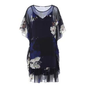 Robe Imprimé Floral Bleu