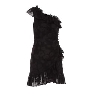 Robe Tapestry Rimona Soie Coton Noir