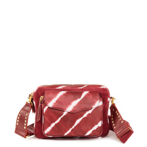 Sac Big Charly Cuir Tie & Dye Bordeaux
