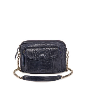 Sac Big Charly Python Navy Argent