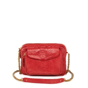 Sac Big Charly Python Rouge