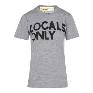 Tee-shirt Locals Coton Gris Chiné
