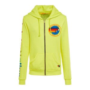 Sweatshirt Aviator Nation Coton Néon Jaune