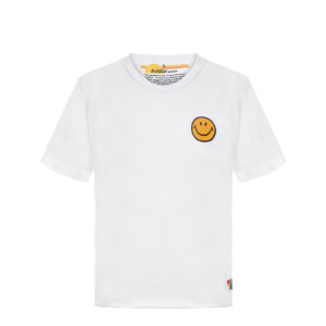Tee-shirt Smiley Brodé Blanc