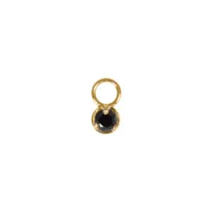 Mini Charm Diamant Noir Or
